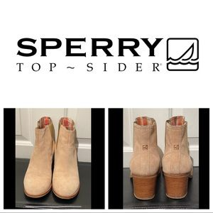 Sperry Marlow Boot Sand Suede 8